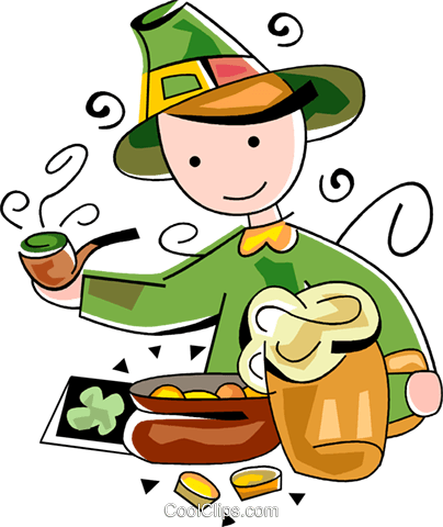 St. Patrick's day celebrations Royalty Free Vector Clip Art illustration vc094527