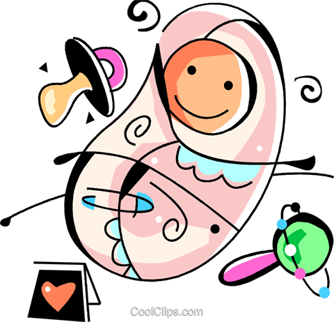 Pregnancy and Newborn Babies Royalty Free Vector Clip Art illustration vc094528
