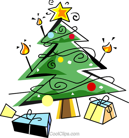 weihnachtsbaum mit geschenken vektor clipart bild. Black Bedroom Furniture Sets. Home Design Ideas