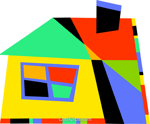 Colorful house Royalty Free Vector Clip Art illustration vc094538