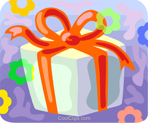 Christmas gift Royalty Free Vector Clip Art illustration vc094552