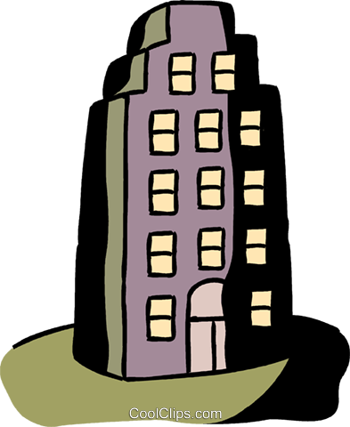 Apartment building Royalty Free Vector Clip Art illustration vc094567