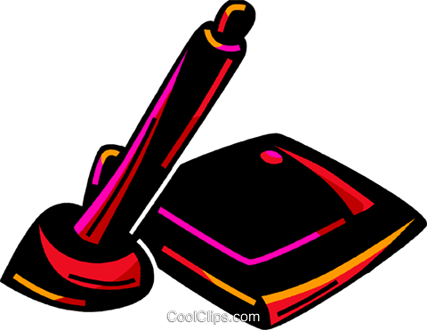 Graphics tablet Royalty Free Vector Clip Art illustration vc094570