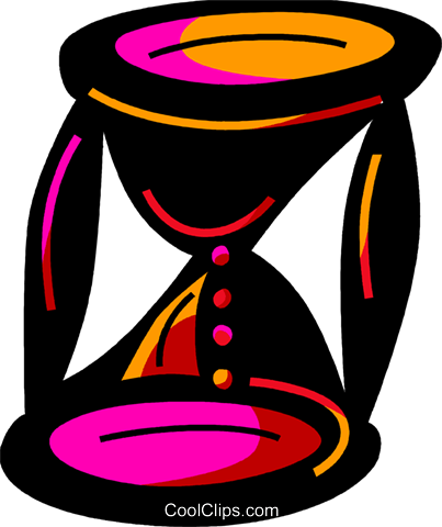 Hourglass Royalty Free Vector Clip Art illustration vc094581
