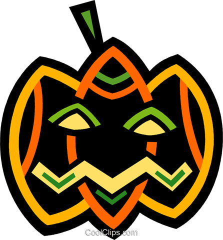 Jack-o-lantern Royalty Free Vector Clip Art illustration vc094587