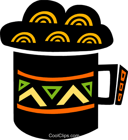 Mug of cold beer Royalty Free Vector Clip Art illustration vc094599