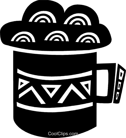 Mug of cold beer Royalty Free Vector Clip Art illustration vc094600