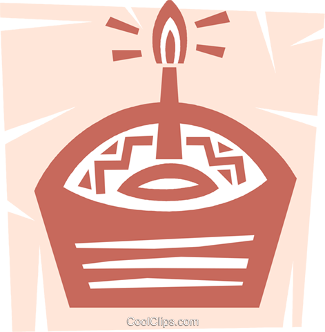 Birthday Cakes Royalty Free Vector Clip Art illustration vc094606
