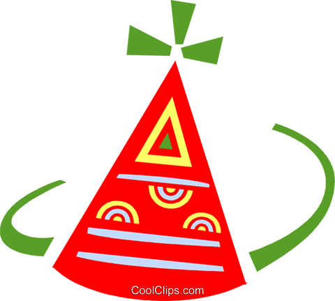 Party hat Royalty Free Vector Clip Art illustration vc094621