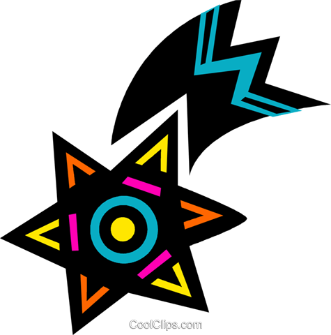 Shooting star Royalty Free Vector Clip Art illustration vc094627
