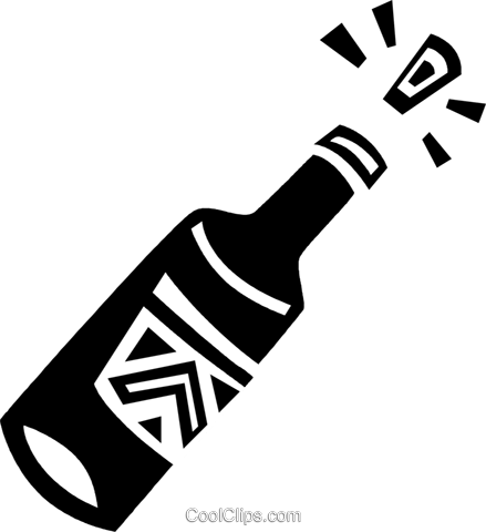 Corked champagne bottle Royalty Free Vector Clip Art illustration vc094636