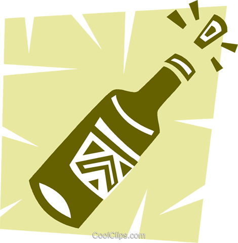 Champagne Royalty Free Vector Clip Art illustration vc094638