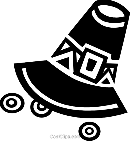 Pioneer's hat Royalty Free Vector Clip Art illustration vc094644