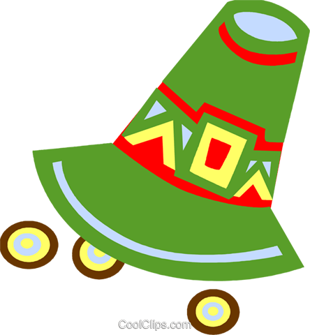 Pioneer's hat Royalty Free Vector Clip Art illustration vc094645