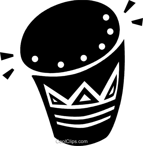 Bongo drum Royalty Free Vector Clip Art illustration vc094652