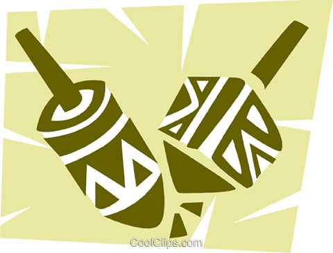 Dreidels Royalty Free Vector Clip Art illustration vc094658