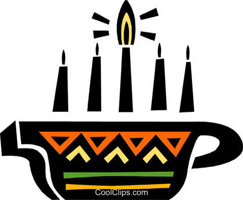 Colorful Menorah Royalty Free Vector Clip Art illustration vc094659
