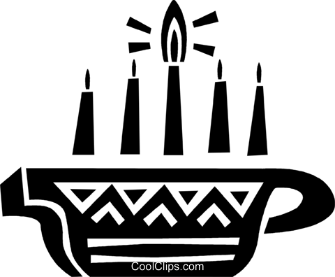Colorful Menorah Royalty Free Vector Clip Art illustration vc094660