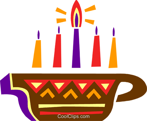 Colorful Menorah Royalty Free Vector Clip Art illustration vc094661