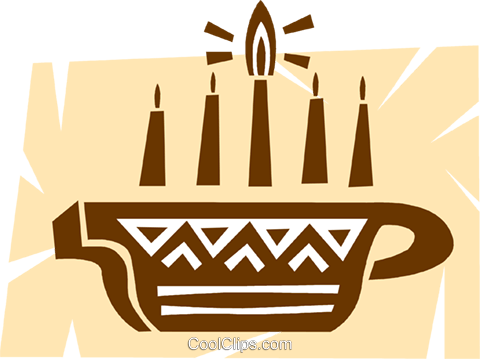 Menorahs Royalty Free Vector Clip Art illustration vc094662