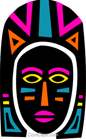 African Mask Royalty Free Vector Clip Art illustration vc094667