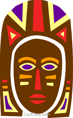 African Mask Royalty Free Vector Clip Art illustration vc094669