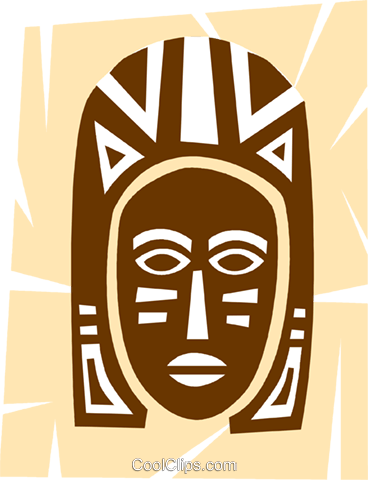 African Masks Royalty Free Vector Clip Art illustration vc094670