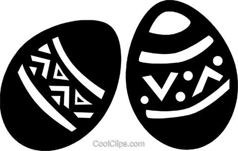 Easter eggs Royalty Free Vector Clip Art illustration vc094676