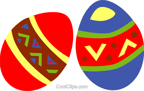 Easter eggs Royalty Free Vector Clip Art illustration vc094677