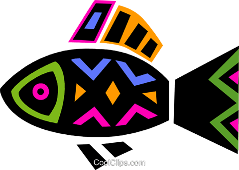 Colorful fish Royalty Free Vector Clip Art illustration vc094687