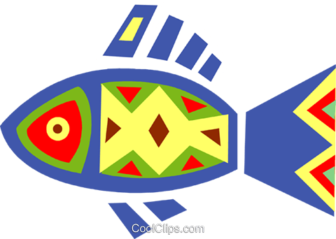 Colorful fish Royalty Free Vector Clip Art illustration vc094689