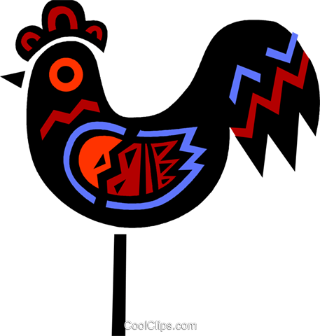 Colorful rooster Royalty Free Vector Clip Art illustration vc094699