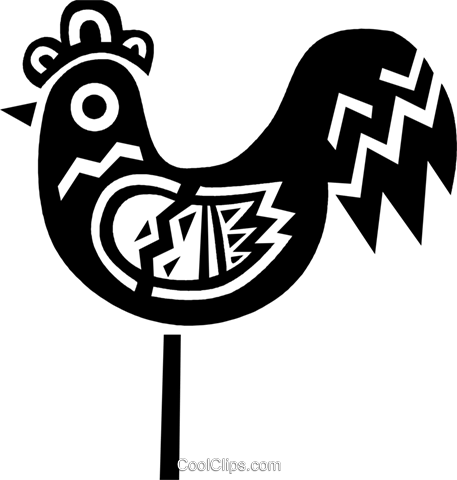 Colorful rooster Royalty Free Vector Clip Art illustration vc094700