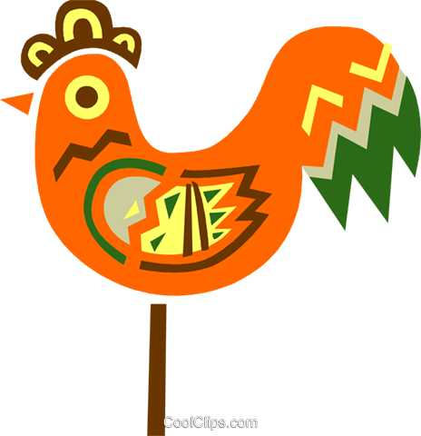Colorful rooster Royalty Free Vector Clip Art illustration vc094701