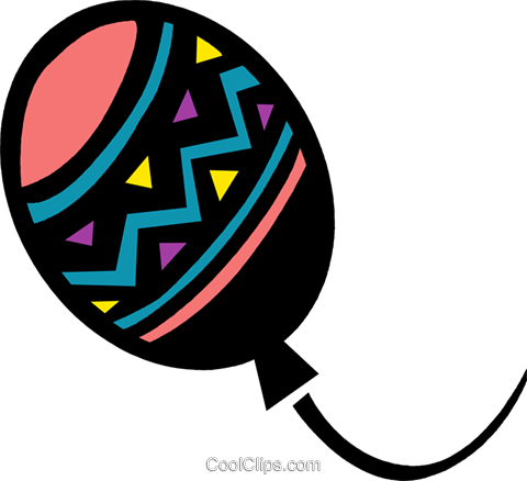 Colorful balloon Royalty Free Vector Clip Art illustration vc094707