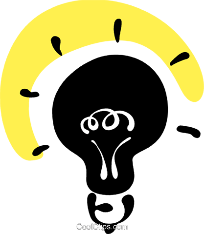 Light bulb Royalty Free Vector Clip Art illustration vc094717