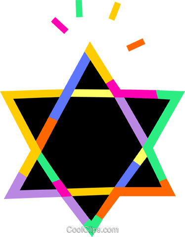 Star of David Royalty Free Vector Clip Art illustration vc094738