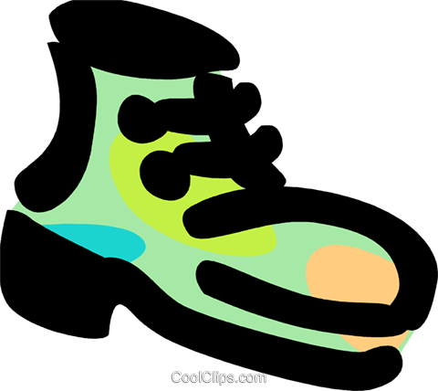 Work boot Royalty Free Vector Clip Art illustration vc094781