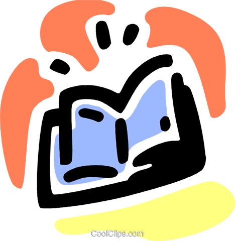 Open book Royalty Free Vector Clip Art illustration vc094807