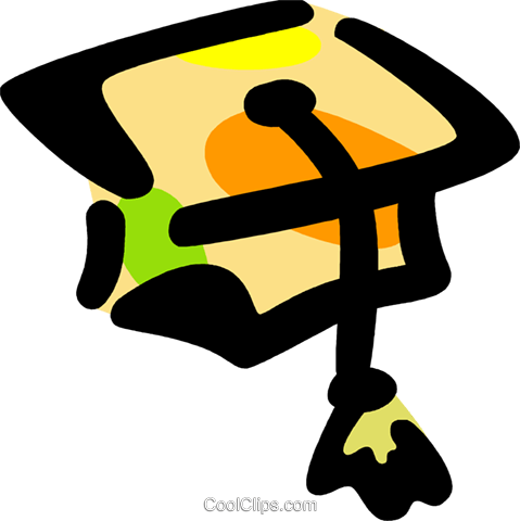 Graduation cap Royalty Free Vector Clip Art illustration vc094829