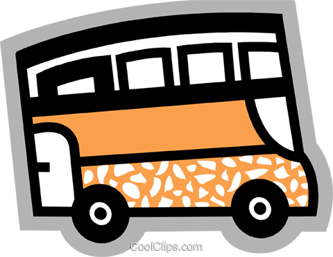 Double decker bus Royalty Free Vector Clip Art illustration vc095513
