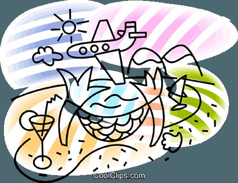 tropical beach hammock royalty free vector clip art