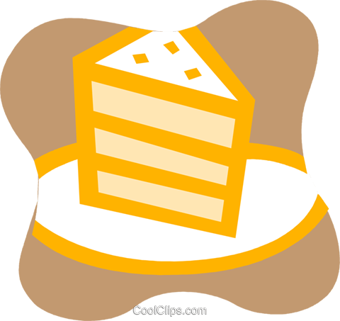 Piece of layer cake Royalty Free Vector Clip Art illustration vc095838