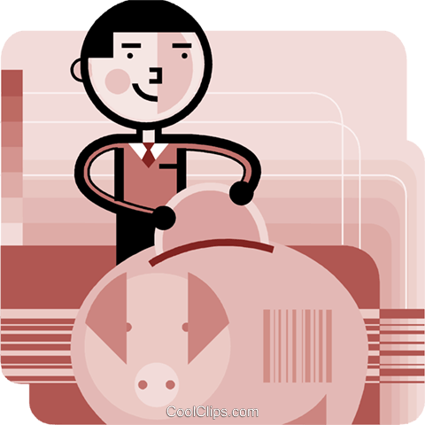 Piggy Banks Royalty Free Vector Clip Art illustration vc096005