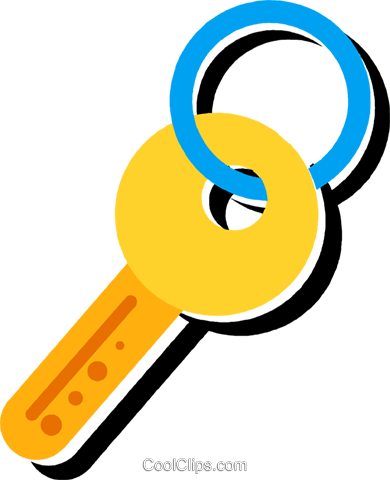 House key Royalty Free Vector Clip Art illustration vc096828