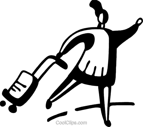 Woman with luggage hailing a cab Royalty Free Vector Clip Art illustration vc096857
