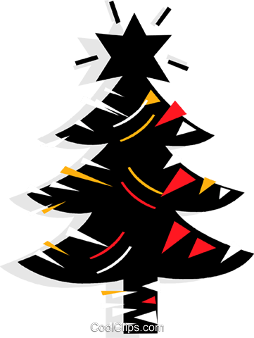 Christmas tree Royalty Free Vector Clip Art illustration vc097158