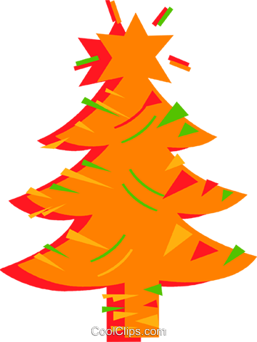 Christmas tree Royalty Free Vector Clip Art illustration vc097160