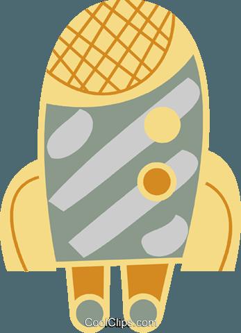 火箭船 免版税矢量剪贴画插图图片