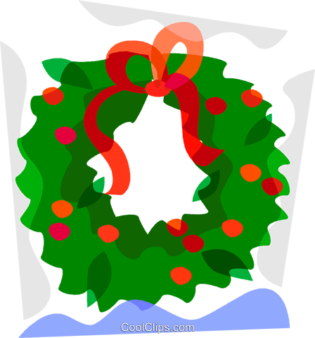 Christmas wreath Royalty Free Vector Clip Art illustration vc098101